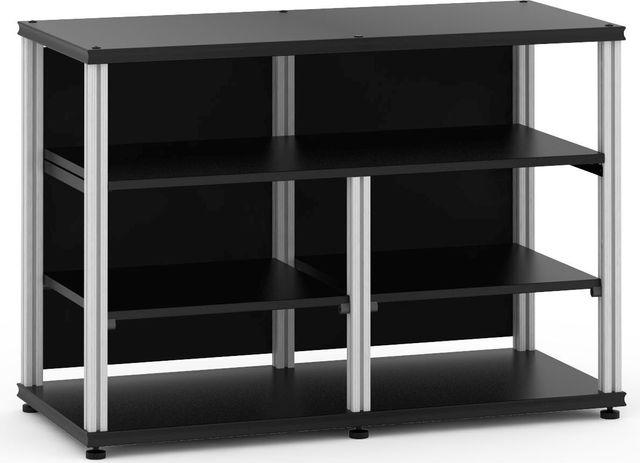 Salamander Designs® Synergy Open Center Twin 30 AV Cabinet-Black/Aluminum-SNC30B/A