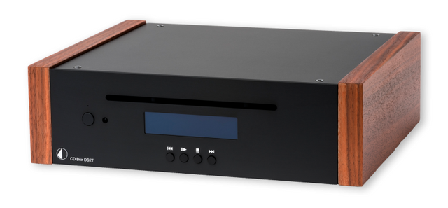 Pro-Ject Black High-End Audio CD Transport with Rosewood Wooden Side Panels-CD Box DS2 T-BL-RW