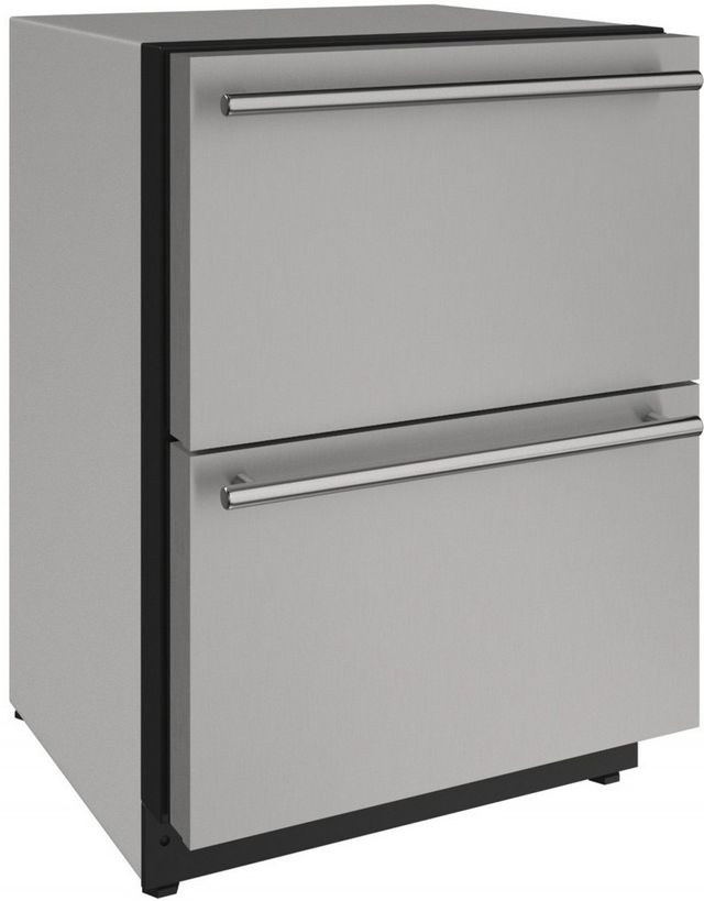 U-Line® 2000 Series 4.9 Cu. Ft. Stainless Steel Under the Counter Refrigerator-2224DWRS-00A