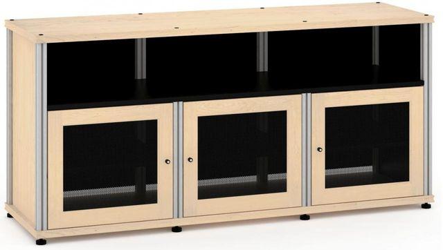 Salamander Designs® Synergy Model 339 AV Cabinet-Natural Maple/Aluminum-SB339M/A