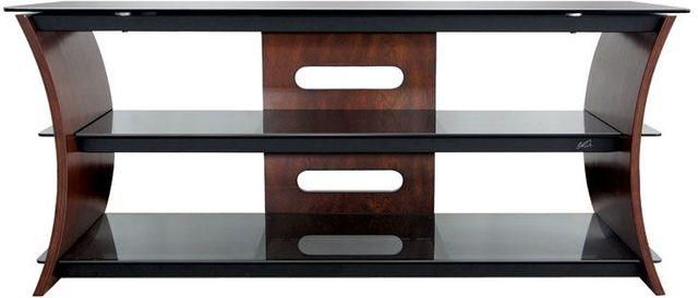 Bell'O® Caramel Brown Curved Wood A/V Furniture-CW356