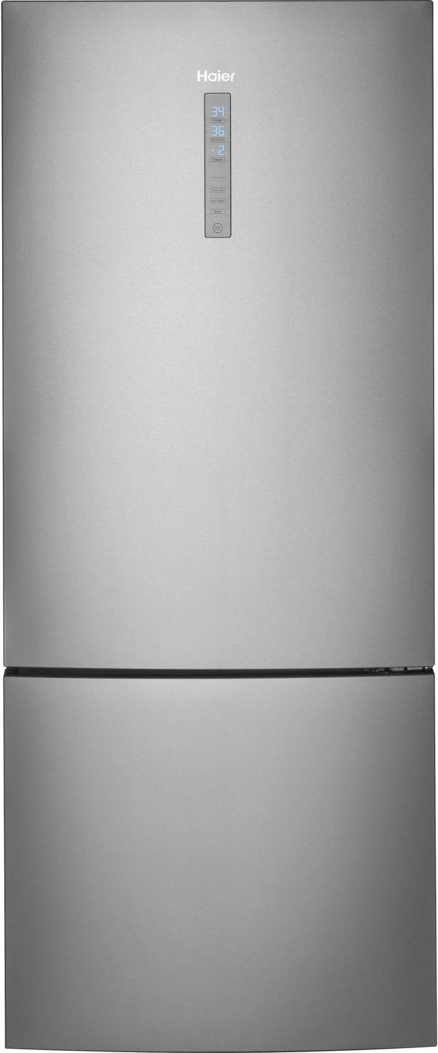 Réfrigérateur à congélateur inférieur de 28 po Haier® de 15,0 pi³ - Acier inoxydable-HRB15N3BGS