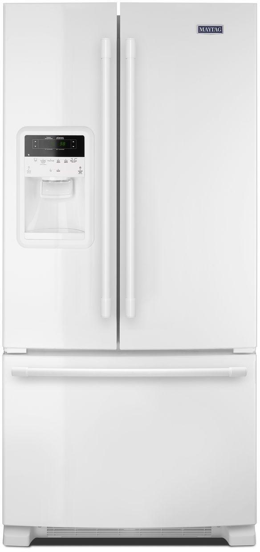 Maytag® 21.71 Cu. Ft. White French Door Refrigerator-MFI2269FRW