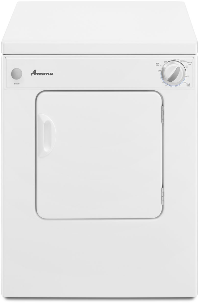 Amana® Front Load Compact Electric Dryer-White-NEC3120FW