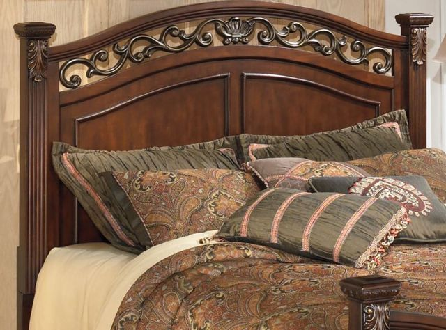 Signature Design by Ashley® Leahlyn Warm Brown King/California King Panel Headboard-B526-58