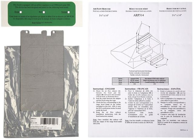 Amortisseur de conduit d'air Broan®-ARP314