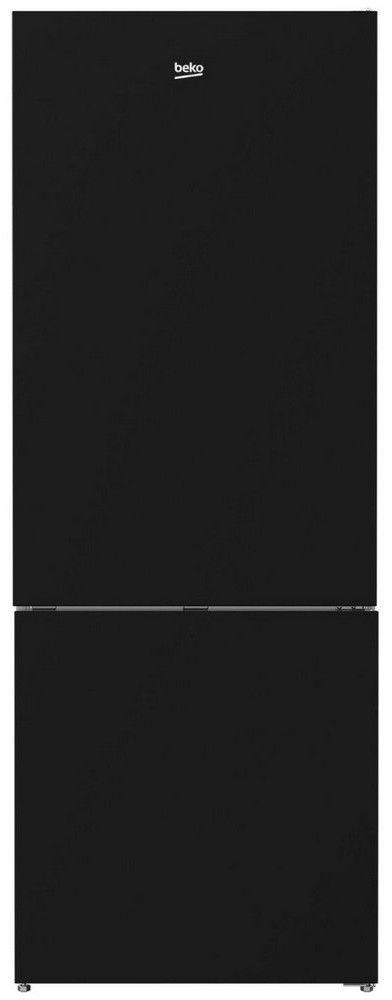 Beko 16.8 Cu. Ft. Black Glass Freestanding Bottom Freezer Refrigerator-BFBF2715GSIM