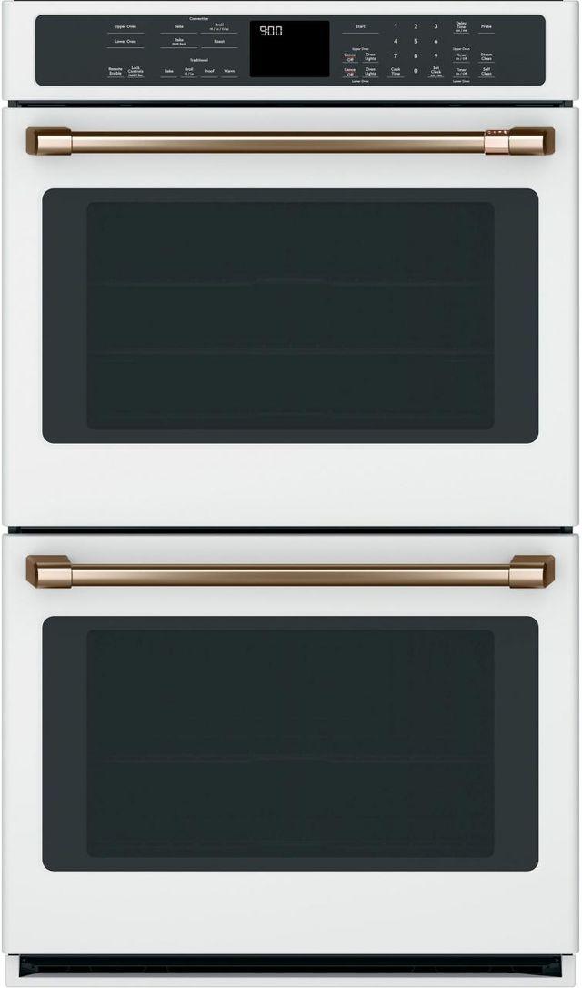 "Café™ 30"" Matte White Electric Built In Double Oven-CTD90DP4MW2"