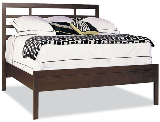 Durham Furniture Soma Queen Asian Bed With Low Panel Footboard-258-120T