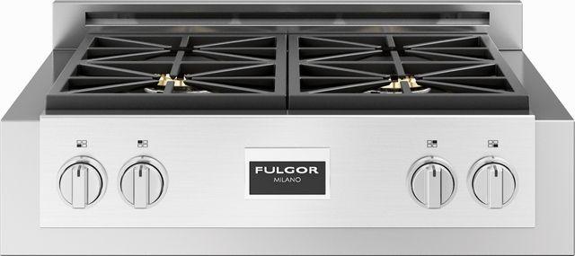 "Fulgor Milano® Sofia 600 Series 30"" Pro Style Gas Rangetop-Stainless Steel-F6GRT304S1"