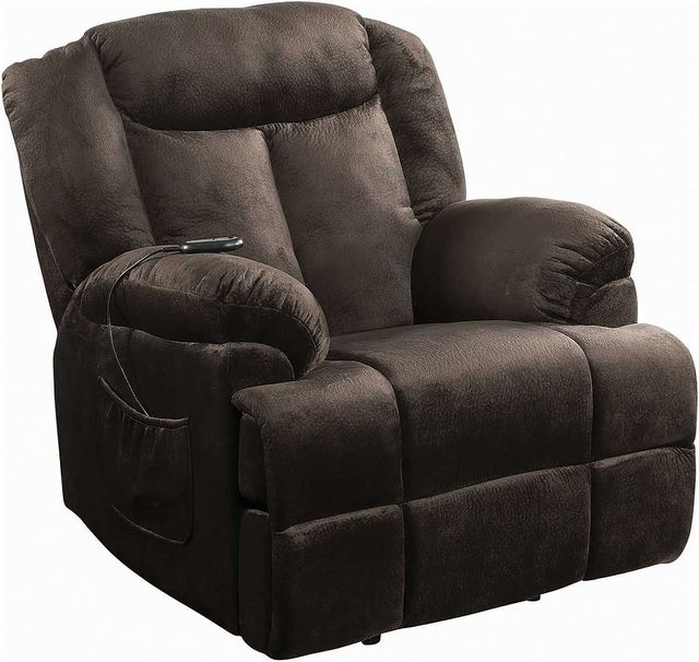 Coaster® Chocolate Power Lift Recliner With Wired Remote-600173