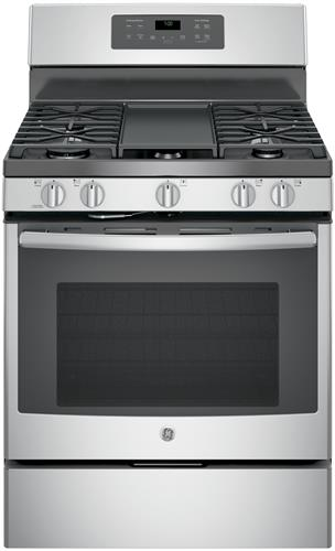 """GE® 30"""" Free Standing Gas Convection Range-Stainless Steel-JGB700SEJSS"""