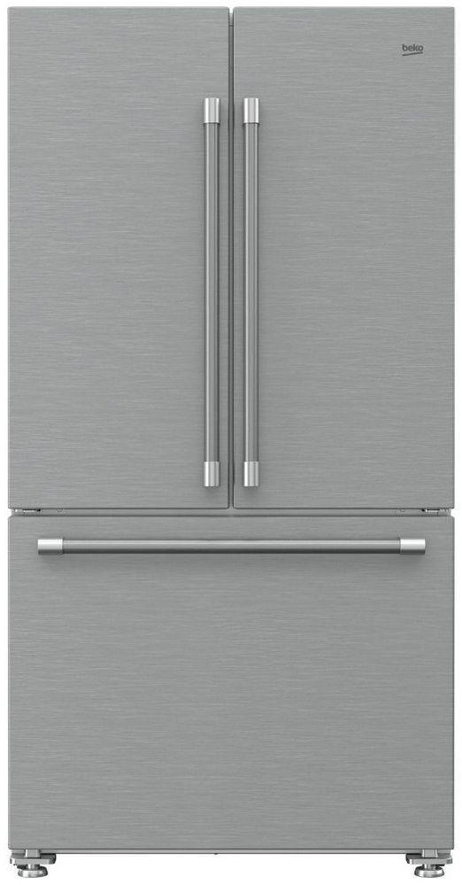 Beko 18.7 Cu. Ft. Fingerprint Free Stainless Steel French Door Refrigerator-BFFD3622SS