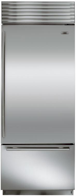 Sub-Zero® 17.4 Cu. Ft. Stainless Steel Built In Bottom Freezer Refrigerator-BI-30U/S/TH-RH