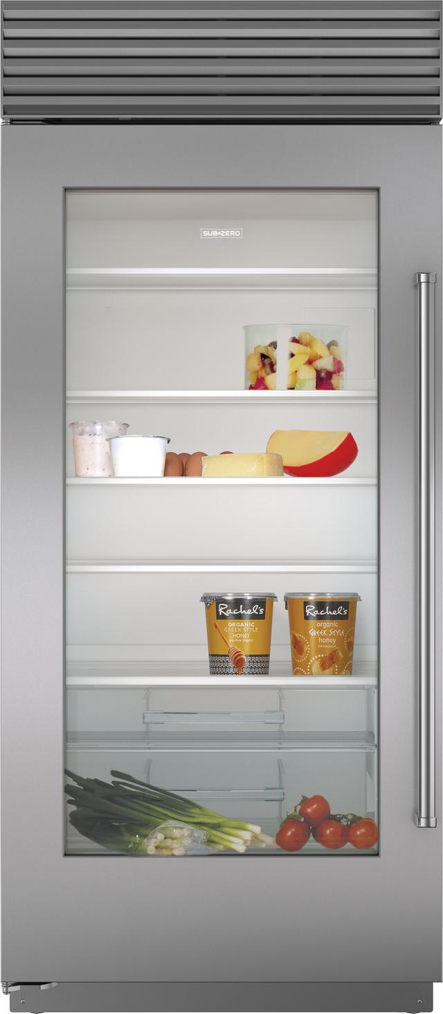 Sub-Zero® 23.3 Cu. Ft. Built In Refrigerator-Stainless Steel-BI-36RA/S/PH-RH