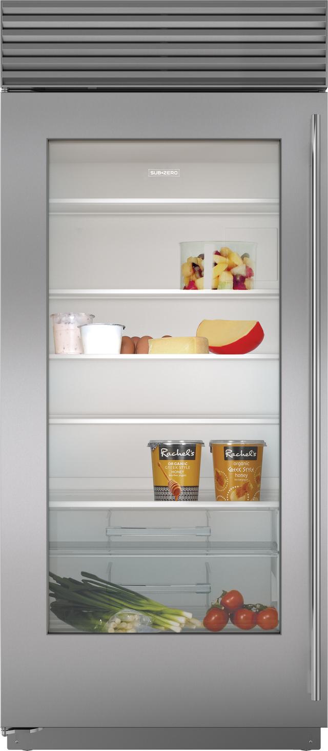 Sub-Zero® 23.3 Cu. Ft. Built In Refrigerator-Stainless Steel-BI-36RA/S/TH-LH