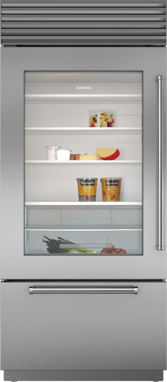 Sub-Zero® 21.6 Cu. Ft. Built In Refrigerator-Stainless Steel-BI-36UA/S/PH-LH