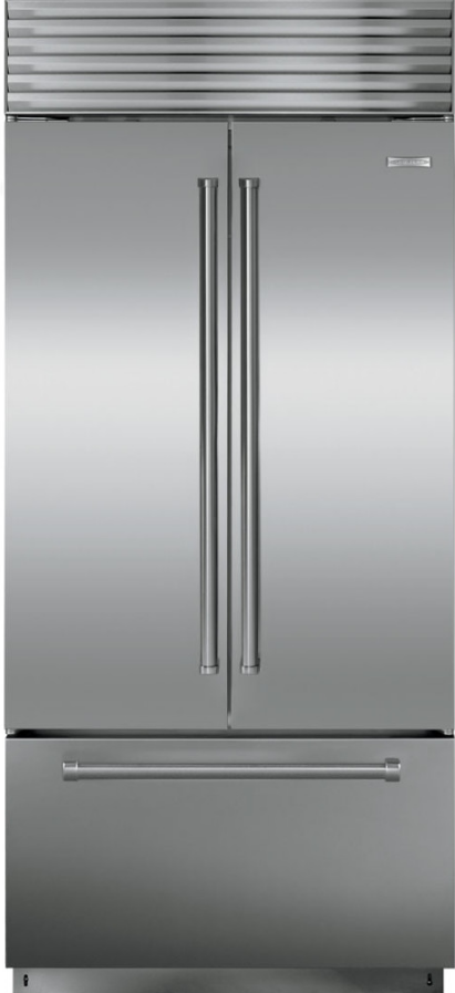 Sub-Zero® 21 Cu. Ft. Stainless Steel Built In French Door Refrigerator-BI-36UFDID/S/PH