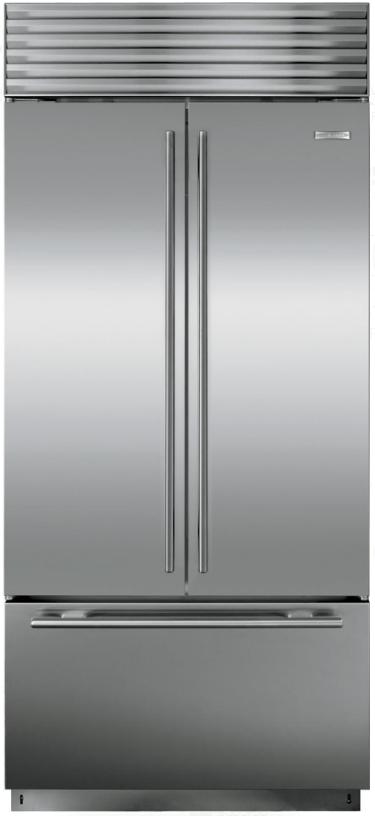 Sub-Zero® 21 Cu. Ft. Stainless Steel Built In French Door Refrigerator-BI-36UFDID/S/TH