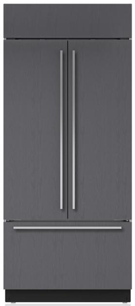 Sub-Zero® 21 Cu. Ft. Built In French Door Refrigerator-Overlay-BI-36UFD/O