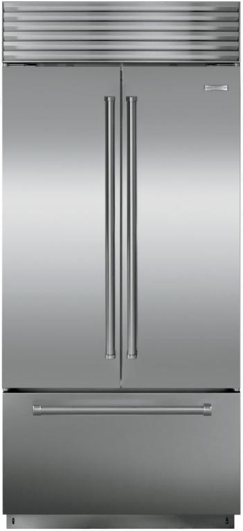 Sub-Zero® 21 Cu. Ft. Built In French Door Refrigerator-Stainless Steel-BI-36UFD/S/PH