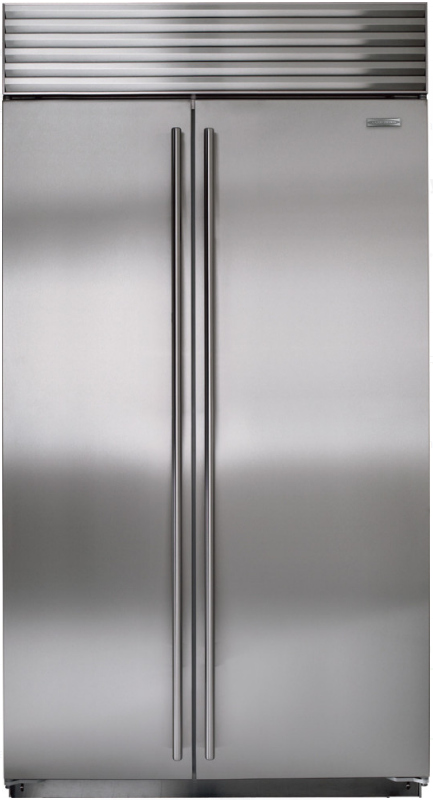 Sub-Zero® 23.7 Cu. Ft. Built In Side By Side Refrigerator-Stainless Steel-BI-42SID/S/TH
