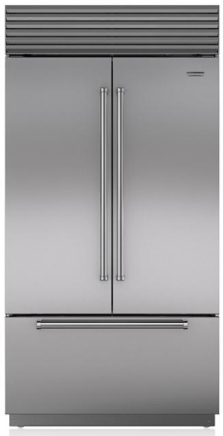 Sub-Zero® 24.7 Cu. Ft. Stainless Steel Built In French Door Refrigerator-BI-42UFDID/S/PH