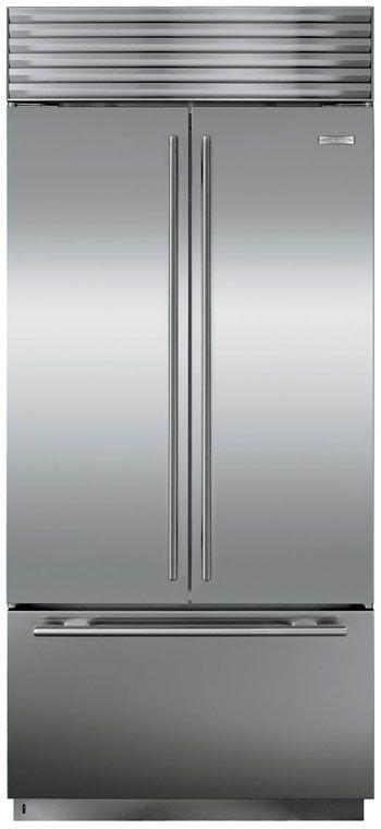 Sub-Zero 21.0 Cu. Ft. Built In French Door Refrigerator-Stainless Steel-BI36UFDSTH