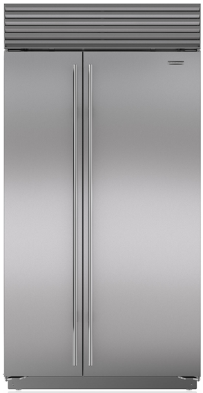Sub-Zero 23.7 Cu. Ft. Built-In Side By Side Refrigerator-Stainless Steel-BI42SIDS