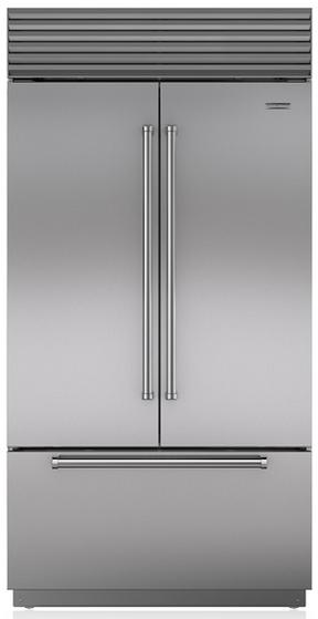 Sub-Zero 24.7 Cu. Ft. Built-In French Door Refrigerator-Stainless Steel-BI42UFDS