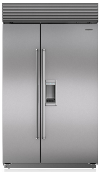 Sub-Zero 28.4 Cu. Ft. Built-In Side By Side Refrigerator With Dispenser-Stainless Steel-BI48SDS