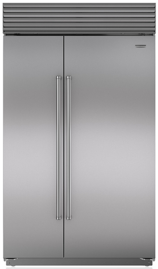 Sub-Zero 28.2 Cu. Ft. Built-In Side By Side Refrigerator With Internal Dispenser-Stainless Steel-BI48SIDS