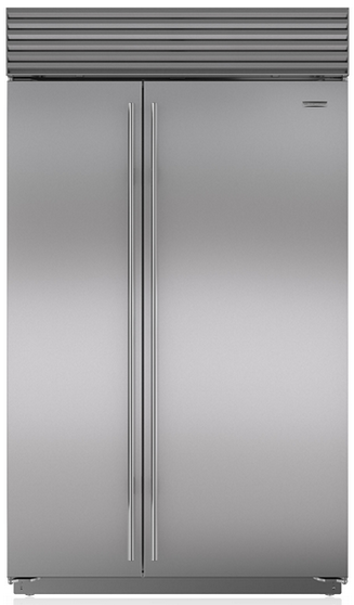Sub-Zero 28.9 Cu. Ft. Built-In Side By Side Refrigerator-Stainless Steel-BI48SS
