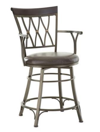 Steve Silver Co. Bali Jumbo Swivel Counter Chair-BL650SCC