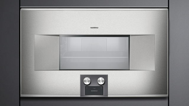 """Gaggenau 400 Series 30"""" Electric Single Steam/Convection Oven Built In-Stainless Steel-BS464610"""