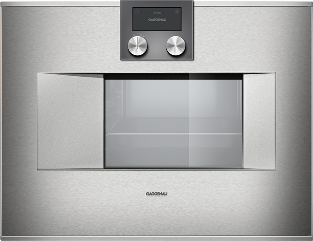 """Gaggenau 400 Series 24"""" Electric Built In Single Oven-Stainless Steel-BS470611"""