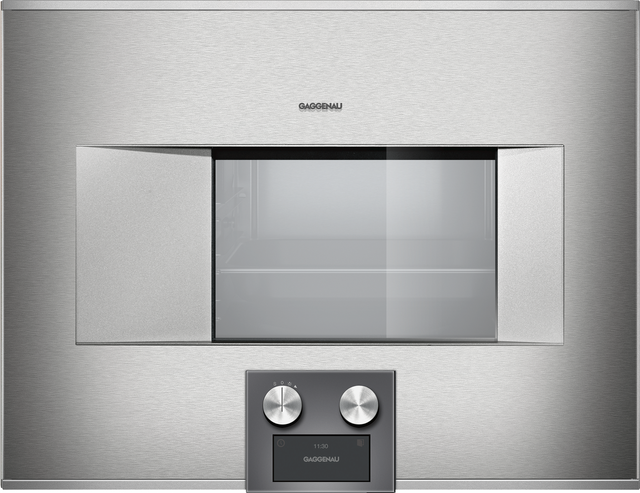"""Gaggenau 400 Series 24"""" Electric Built In Single Oven-Stainless Steel-BS474611"""