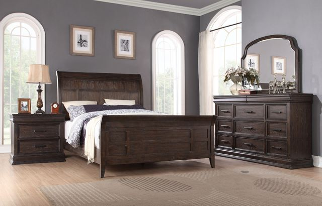 Winners Only® Xcalibur Sleigh Bed-Queen-BX1002Q