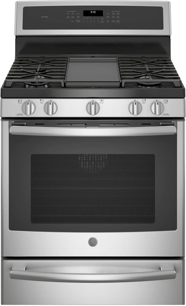 """GE® Profile™ Series 30"""" Stainless Steel Free Standing Gas Convection Range-PGB940SEJSS"""