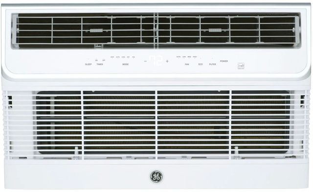 GE® 12,000 BTU's Soft Gray Thru the Wall Built In Heat/Cool Room Air Conditioner-AJEQ12DCH