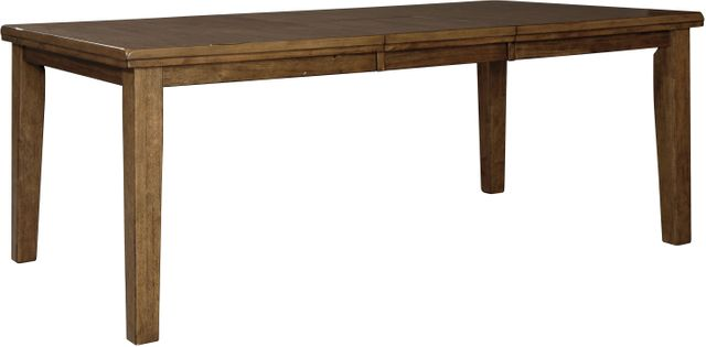 Benchcraft® Flaybern Brown Rectangular Dining Room Butterfly Extension Table-D595-35