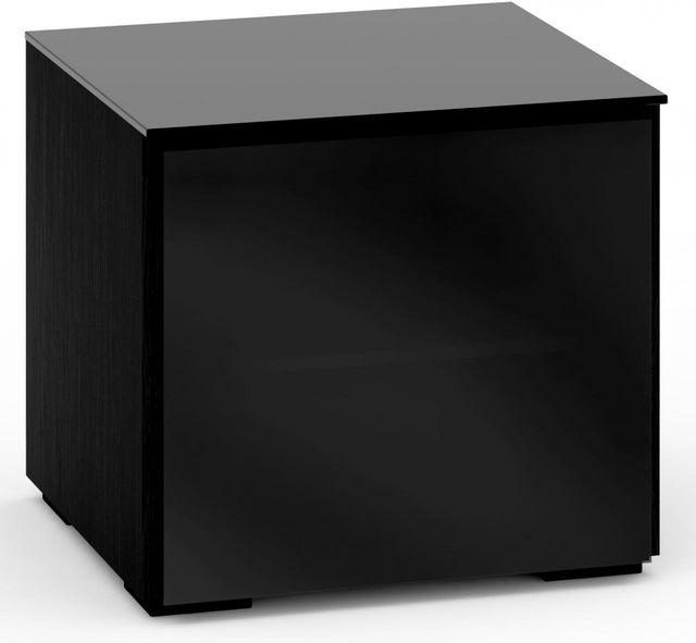 Salamander Designs® Oslo 217 AV Cabinet-Black Glass-C/OS217/BG