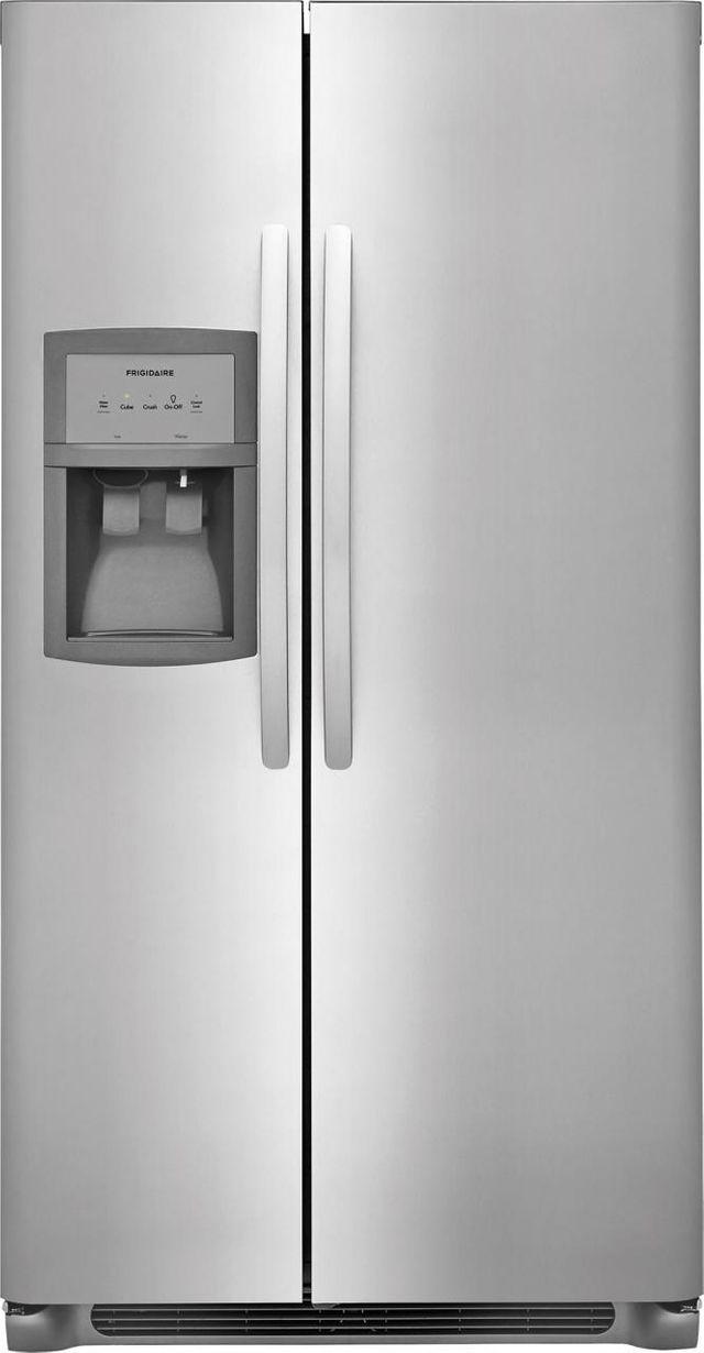 Frigidaire® 22.1 Cu. Ft. Standard Depth Side by Side Refrigerator-Stainless Steel-FFHX2325TS