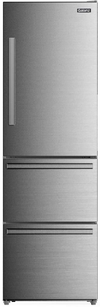 Galanz 12.37 Cu. Ft. Stainless Steel Look Bottom Freezer Refrigerator-GLR12BS2K16