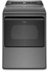 Whirlpool® 7.4 Cu. Ft. Chrome Shadow Front Load Electric Dryer-YWED5100HC
