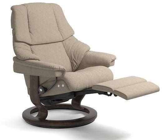 Stressless® by Ekornes® Reno Medium Leg Comfort Recliner-1169715
