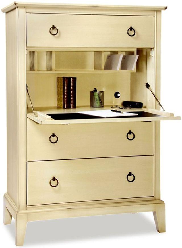 Durham Furniture Solid Accents Antique Cream Secretary Chest-900-153