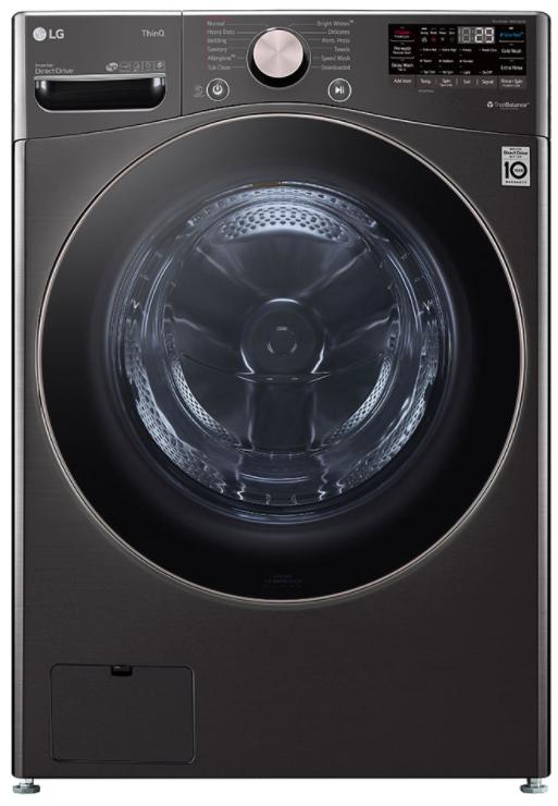 LG 4.5 Cu. Ft. Black Steel Front Load Washer-WM4000HBA