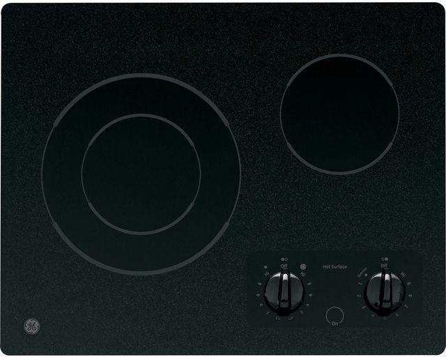Table de cuisson électrique GE® de 21 po - Noir-JP256BMBB