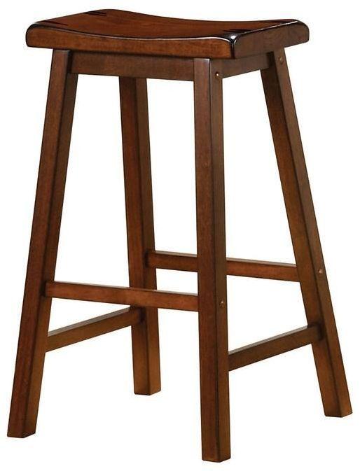 "Coaster® Transitional Chestnut 24"" Counter Height Bar Stool-180079"